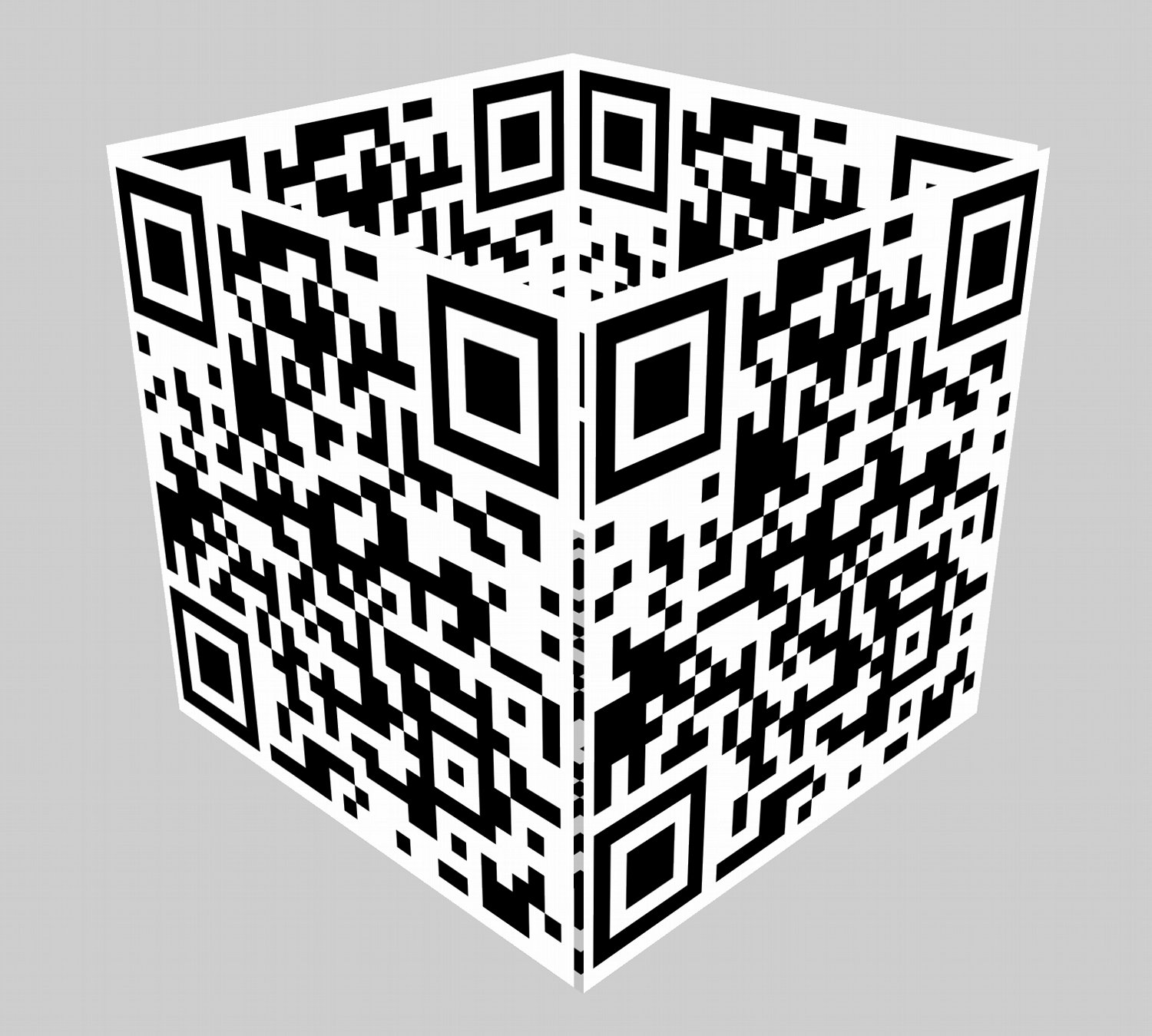 - My first attempt at a QR cube. -  - Art and the Zen of QR Codes - QaRt - making art from QR codes. - - art  - photography - by Tony Karp