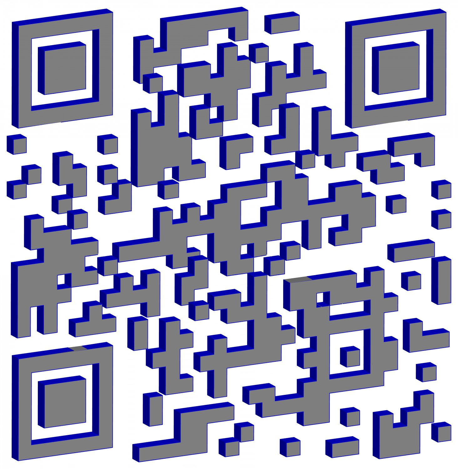 - This 3D QR code has a cool blue look. -  - Art and the Zen of QR Codes - QaRt - making art from QR codes. - - art  - photography - by Tony Karp