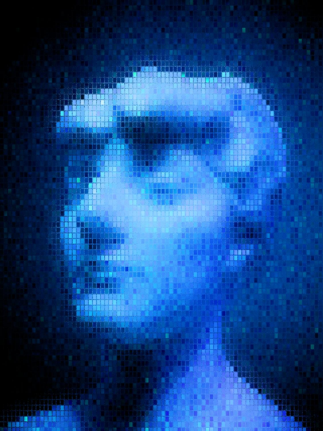 Blue bust - Blue notes - Metropolitan Museum, New York City - - art  - photography - by Tony Karp