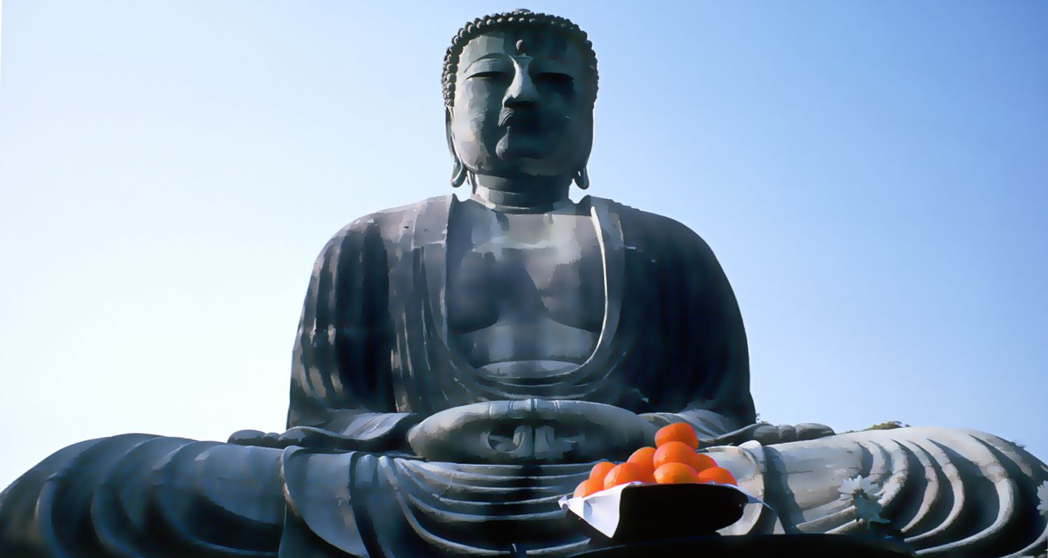 - Daibutsu Buddha at Kamakura - 19mm lens - - art  - photography - by Tony Karp