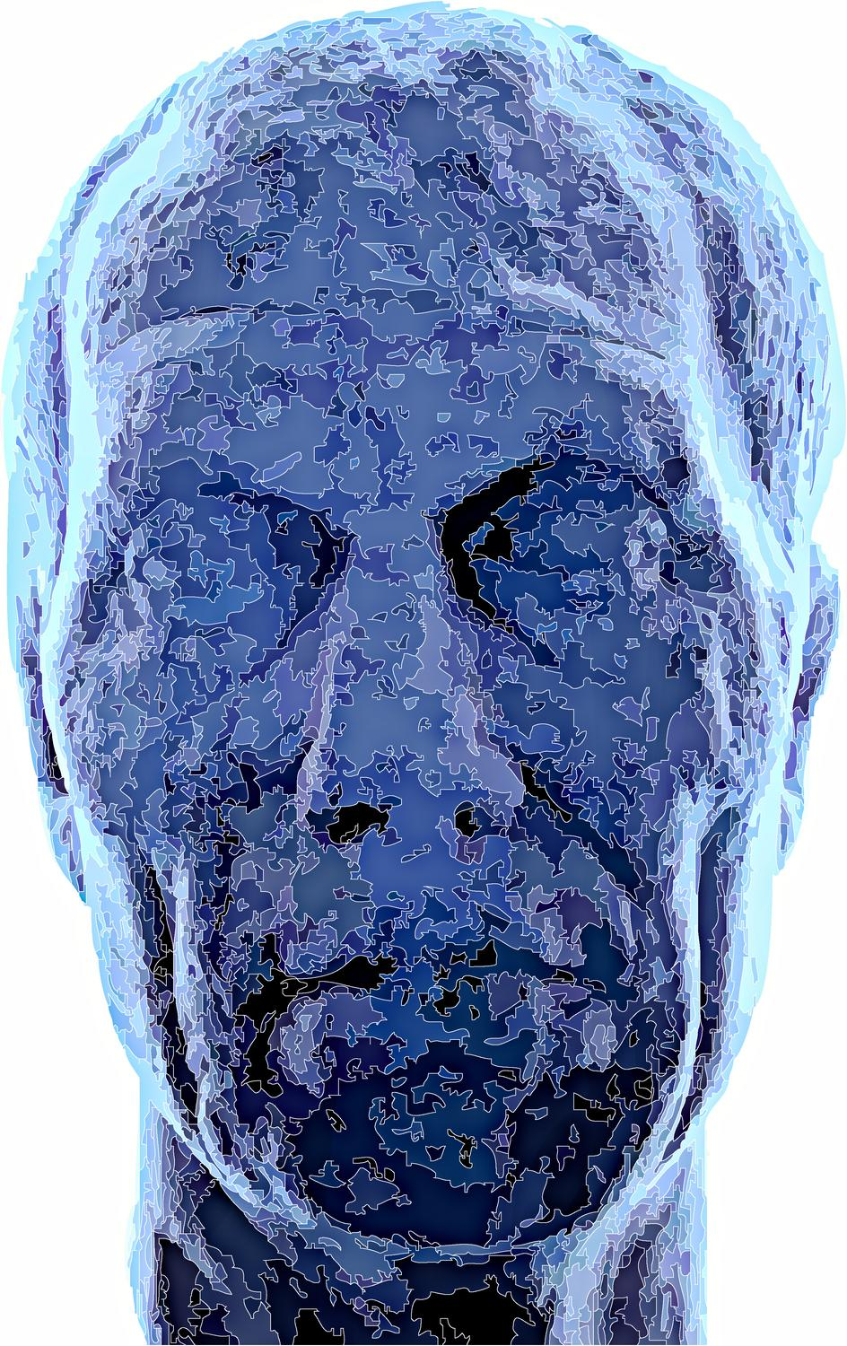 - Another face from the archeological museum. I think of him as the blue Madrileno - A trip to Spain by Tony Karp - Madrid -Toledo - Manzanares - Avila Manzanares - - - art  - photography - by Tony Karp