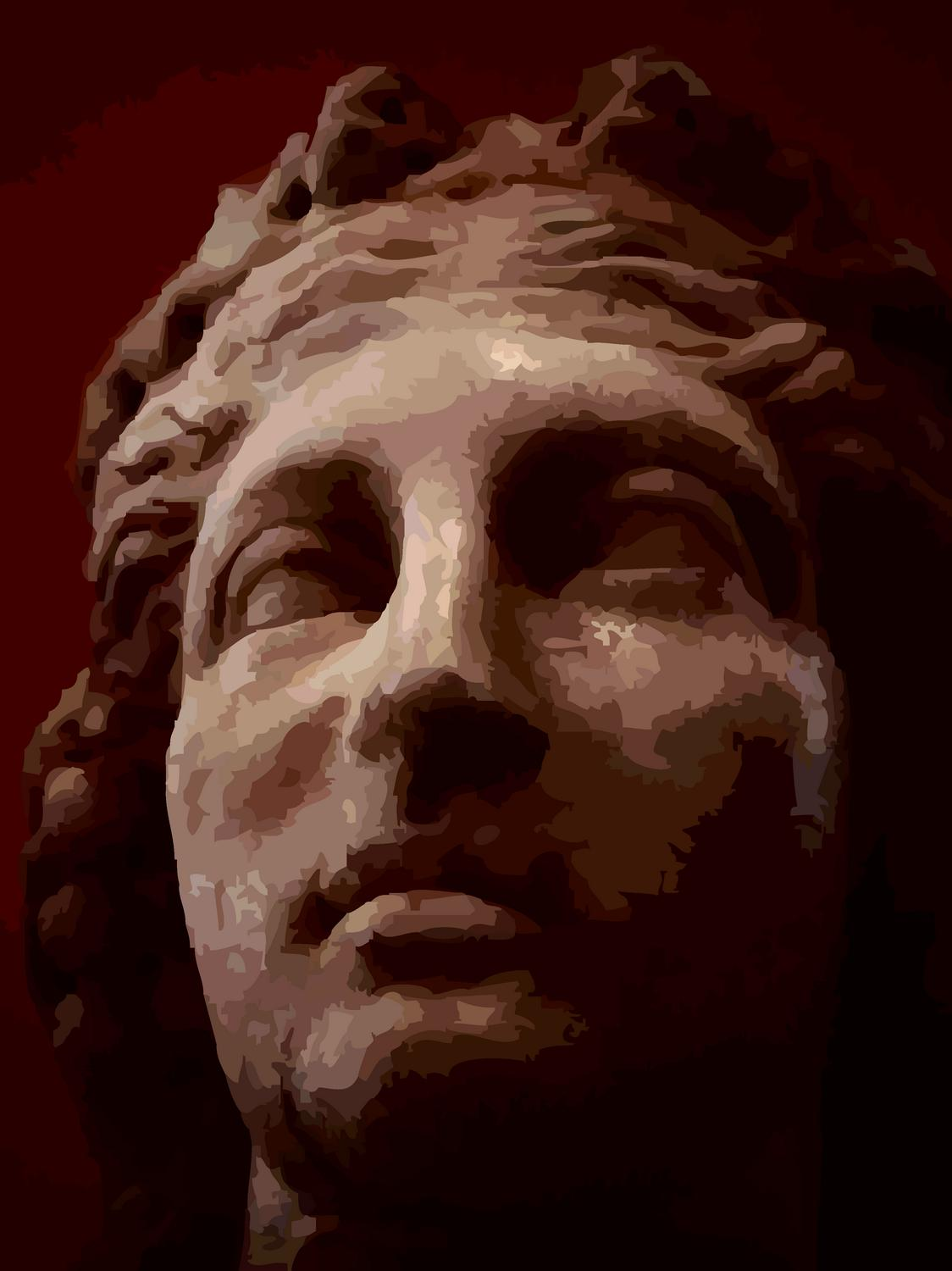- A lovely face from the National Archaeological Museum of Spain. - A trip to Spain by Tony Karp - Madrid -Toledo - Manzanares - Avila Manzanares - - - art  - photography - by Tony Karp