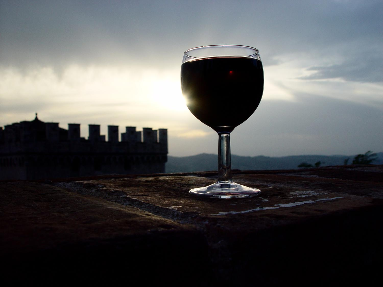 - Sunset in the palazzo, made perfect with a glass of wine - A trip to Rome - by Tony Karp - Rome - Vatican - Gubbio - Viterbo - Spoleto - - - art  - photography - by Tony Karp