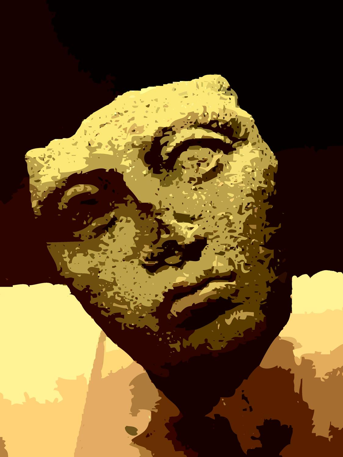 - An Etruscan face in Viterbo. - A trip to Rome - by Tony Karp - Rome - Vatican - Gubbio - Viterbo - Spoleto - - - art  - photography - by Tony Karp