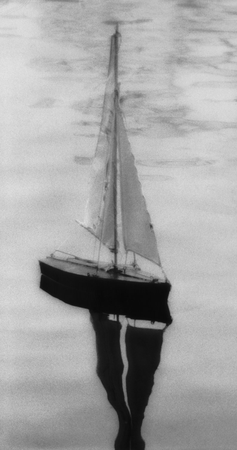 sailboat - Illustrating a story about finding inner peace. - Photojournalism - Life Magazine - Black and white photography - Canon rangefinder and SLR cameras - - art  - photography - by Tony Karp