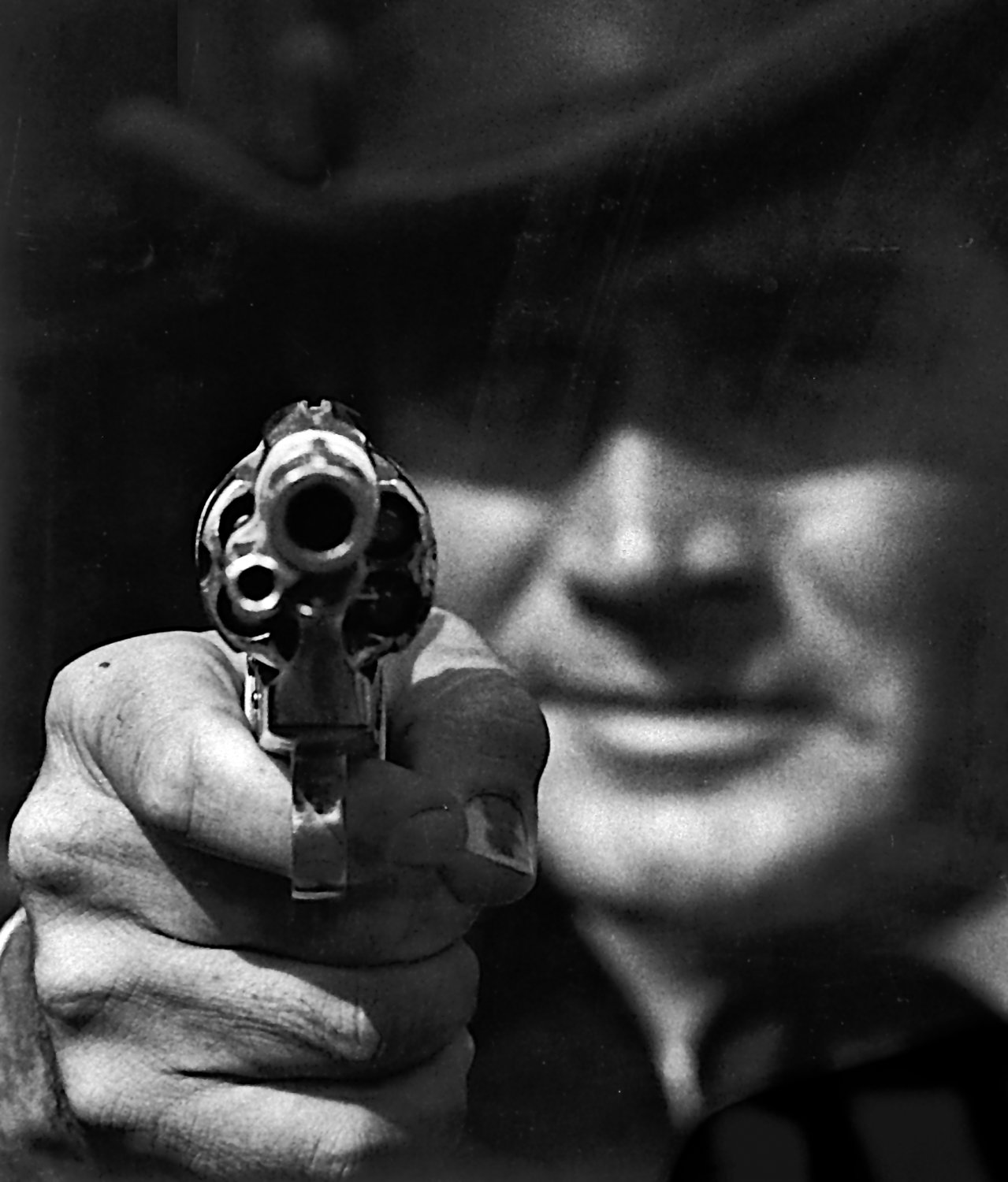 - Gene Barry as Bat Masterson takes aim at yours truly. - Photojournalism - Life Magazine - NBC TV - - art  - photography - by Tony Karp