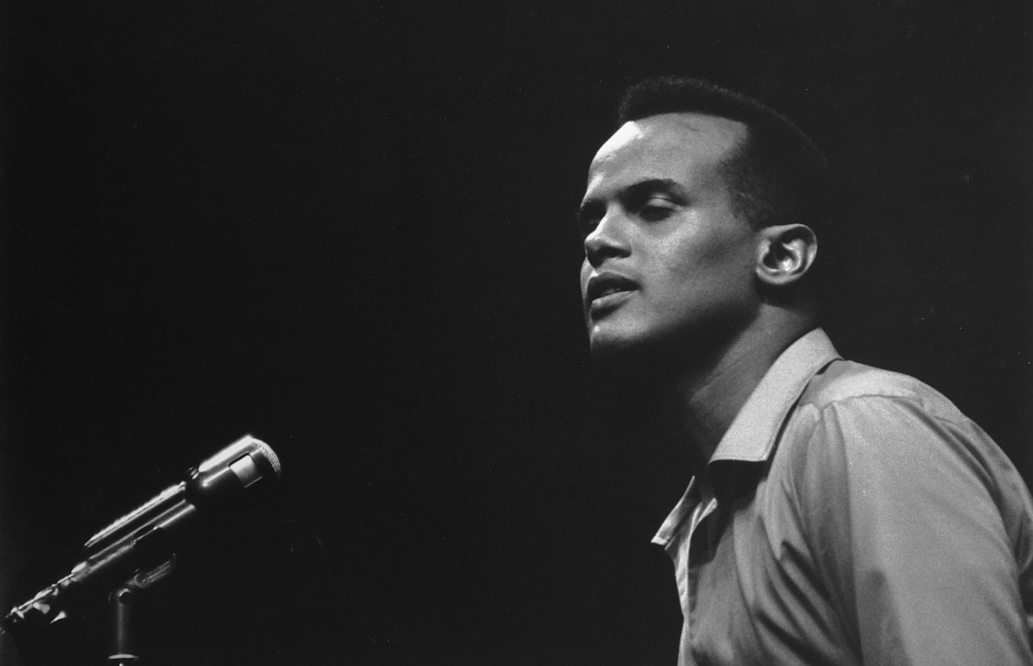 - Harry Belafonte on an NBC variety show. - Photojournalism - Life Magazine - NBC TV - - art  - photography - by Tony Karp