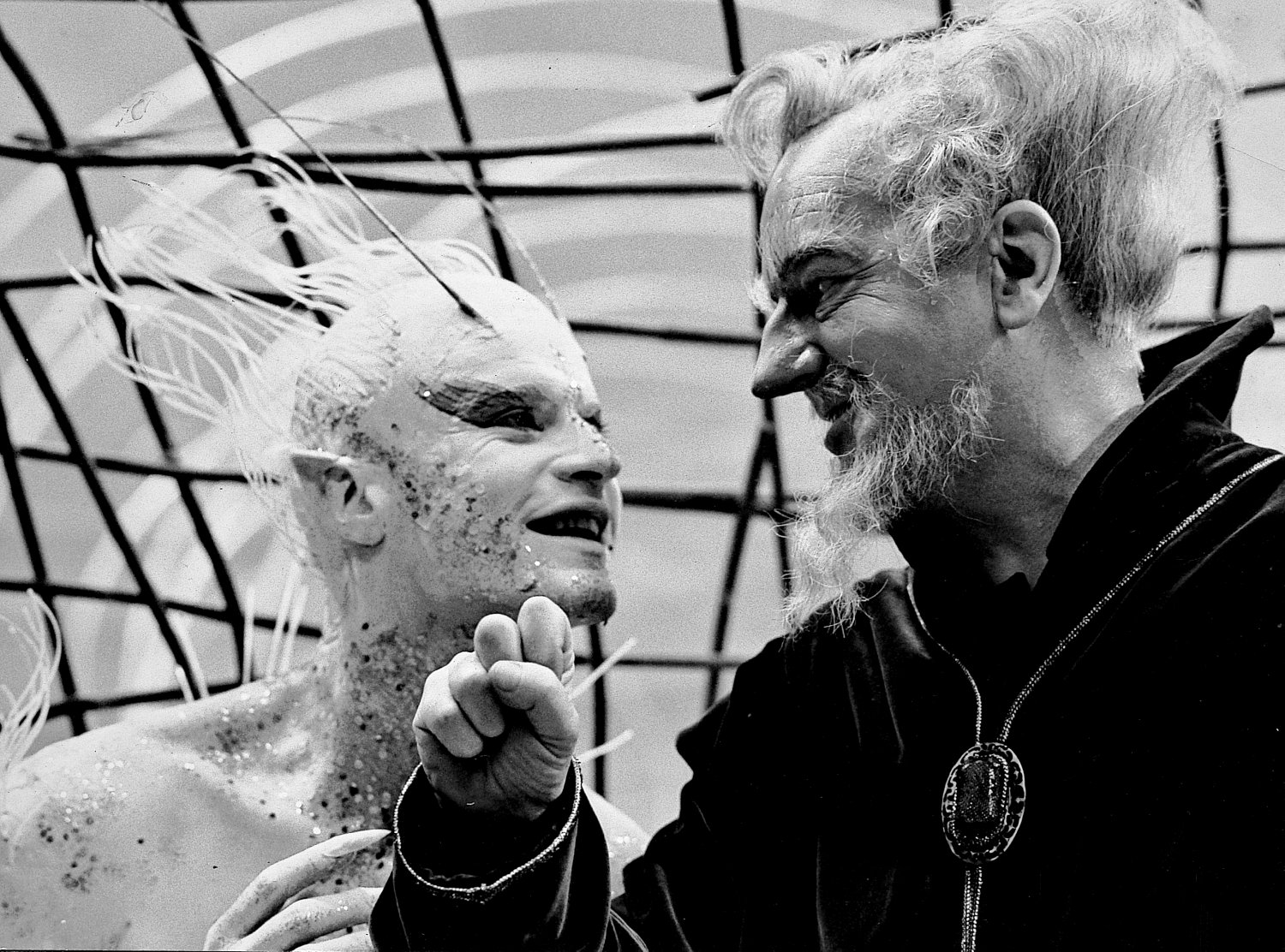- Roddy McDowall as Ariel and Maurice Evans as Prospero  in Shakespeare's <I>The Tempest</I> - Shakespeare - The Tempest - Richard Burton - Maurice Evans - Lee Remick - Roddy McDowall - NBC Television - Hallmark Hall of Fame - - art  - photography - by Tony Karp