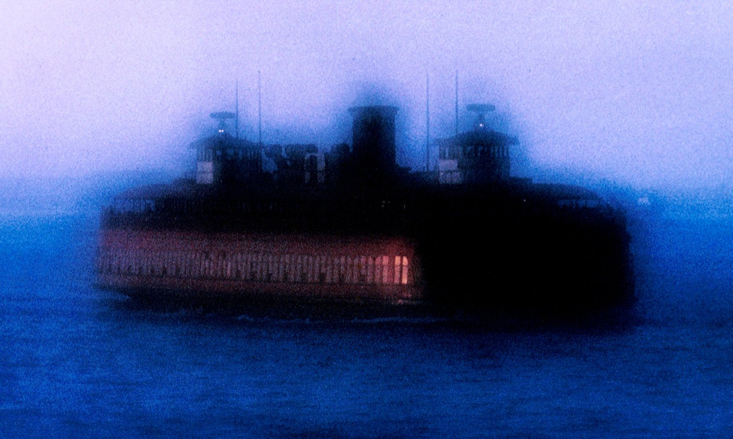 - Ghost ferry, New York City - Custom-made 200mm diffusion lens - - art  - photography - by Tony Karp