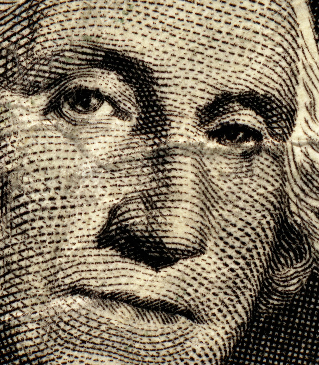- This is what old money looks like. - - George Washington - with blue eyes and his Mona Lisa smile - - art  - photography - by Tony Karp