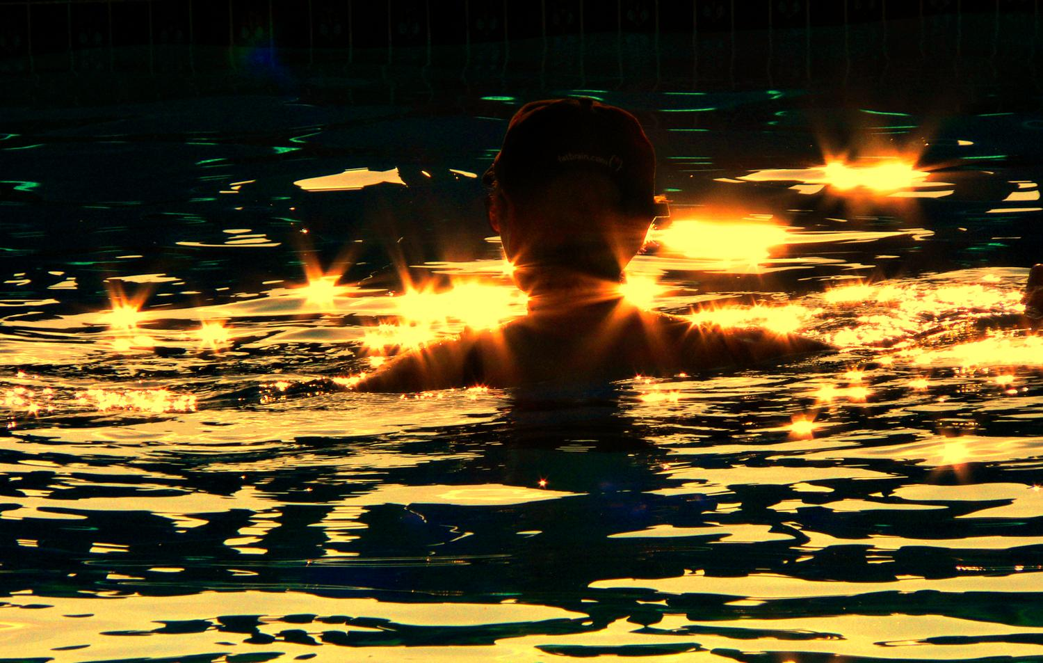 - In the pool - pictures of the Hobbitt - the artist's muse - I did this for Facebook - - art  - photography - by Tony Karp