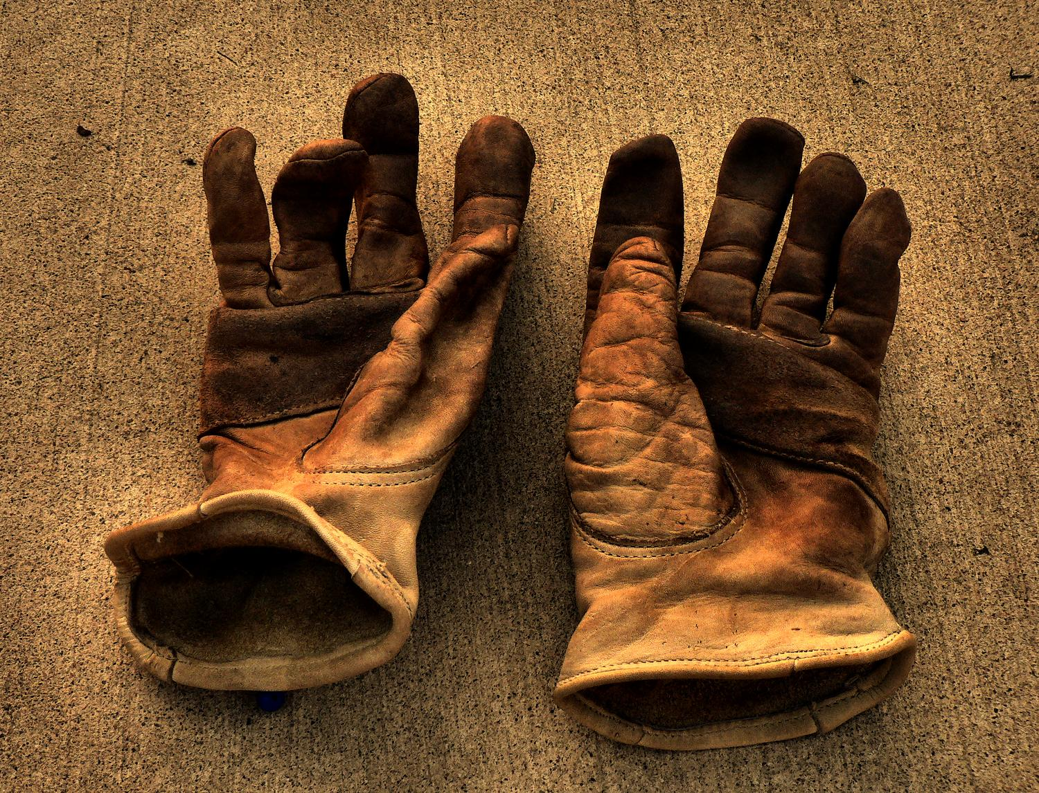 The Hobbitt's work  gloves - the gloves of the artist's muse - Photography can be hard work, but it should also be fun - - art  - photography - by Tony Karp