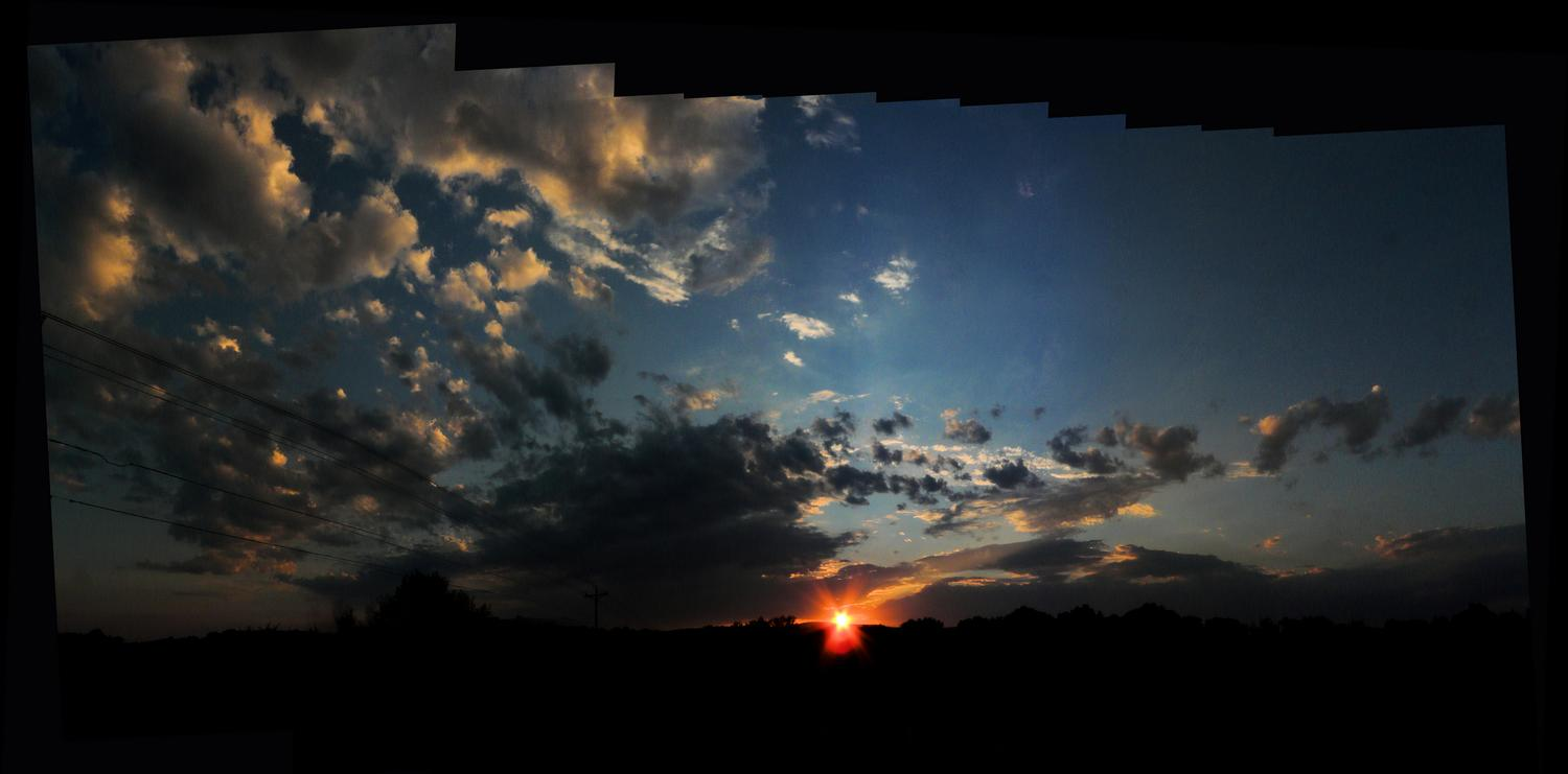 - The sunset in a panorama. - - art  - photography - by Tony Karp