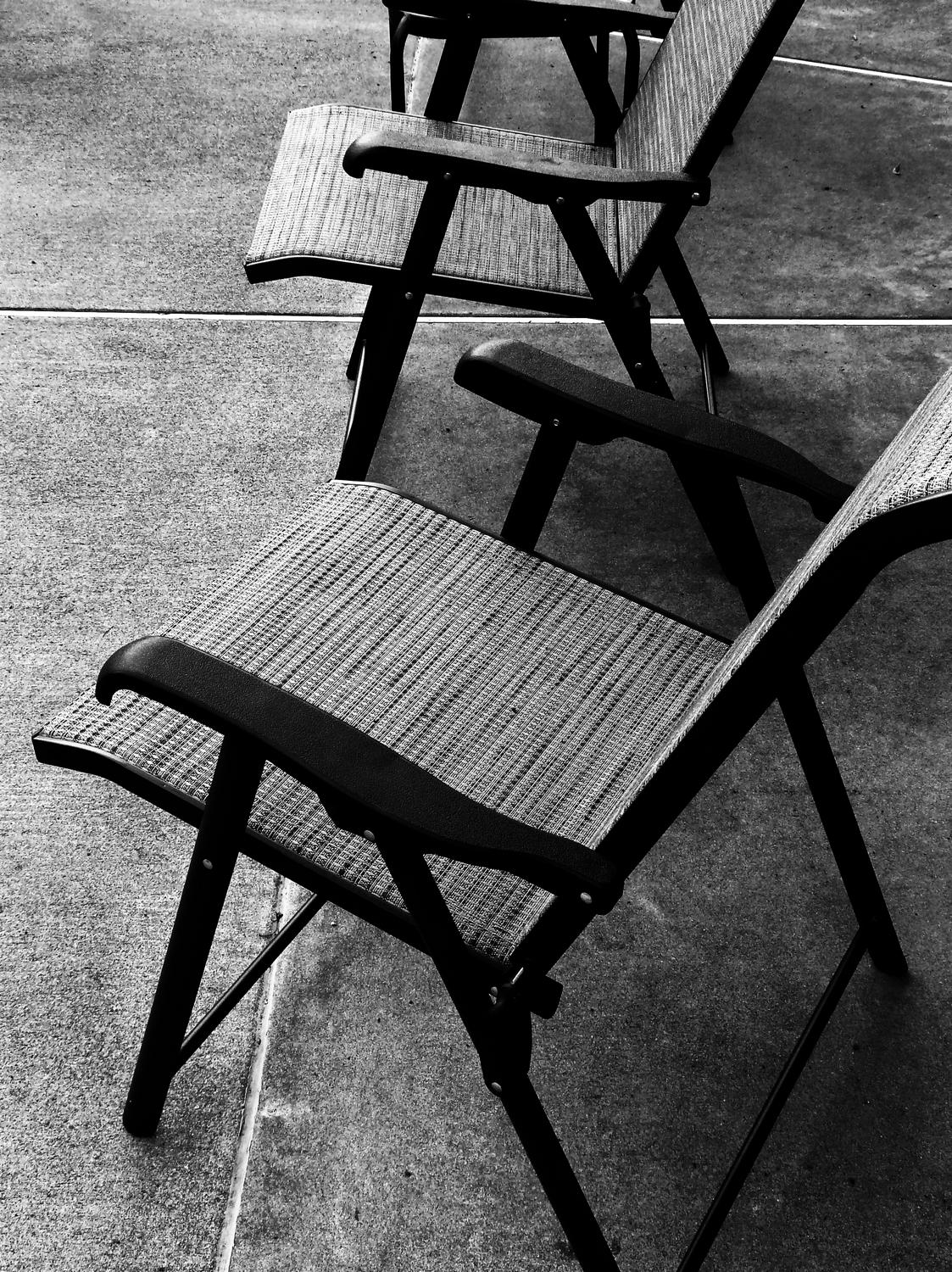 - Chairs on the deck, waiting for our return - Panasonic DMC-FZ18 - - art  - photography - by Tony Karp