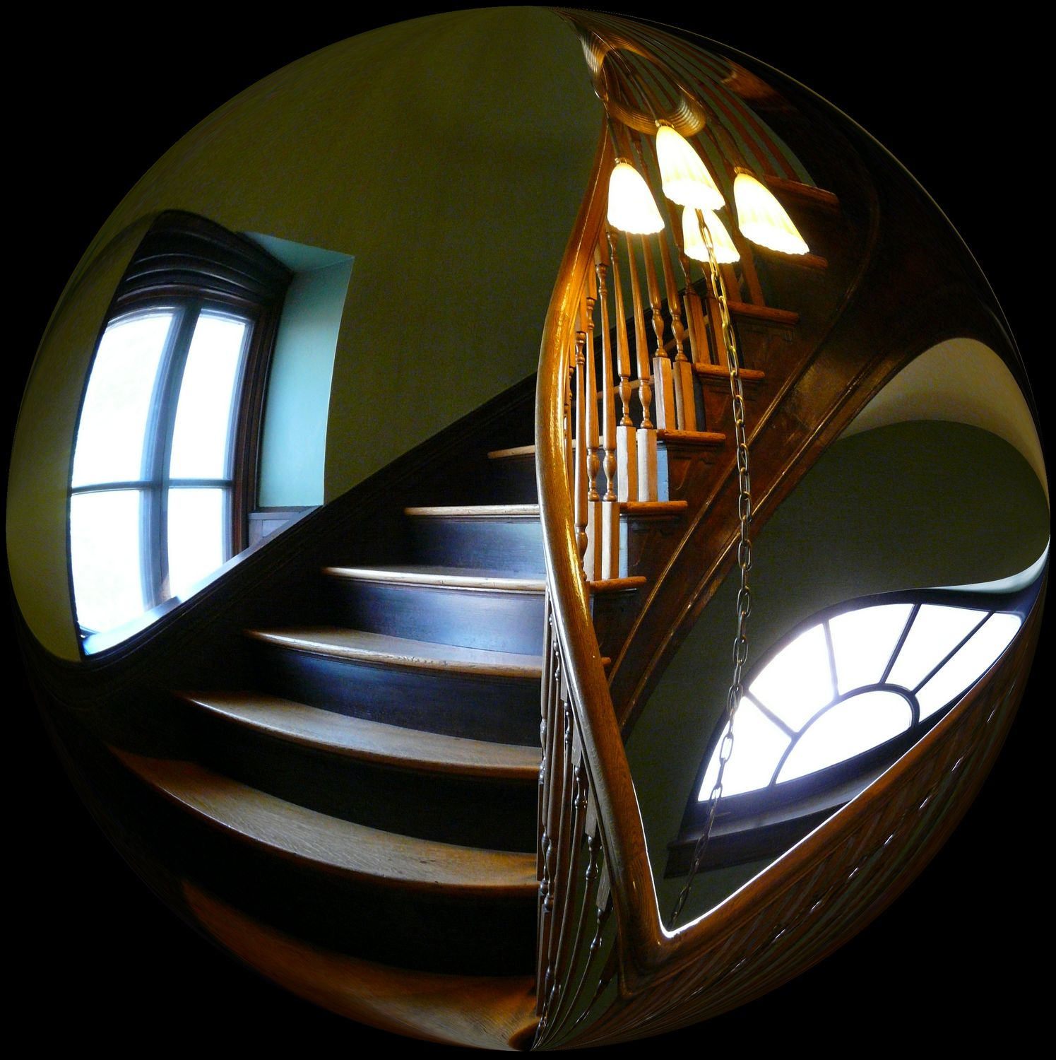 -   spiral staircase easily fits inside a bubble - Bubble Pictures - made with Wilkington-Smythe