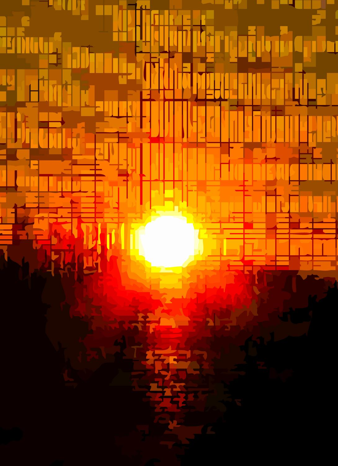 - Sunset in rhythmic beats and squares - - art  - photography - by Tony Karp