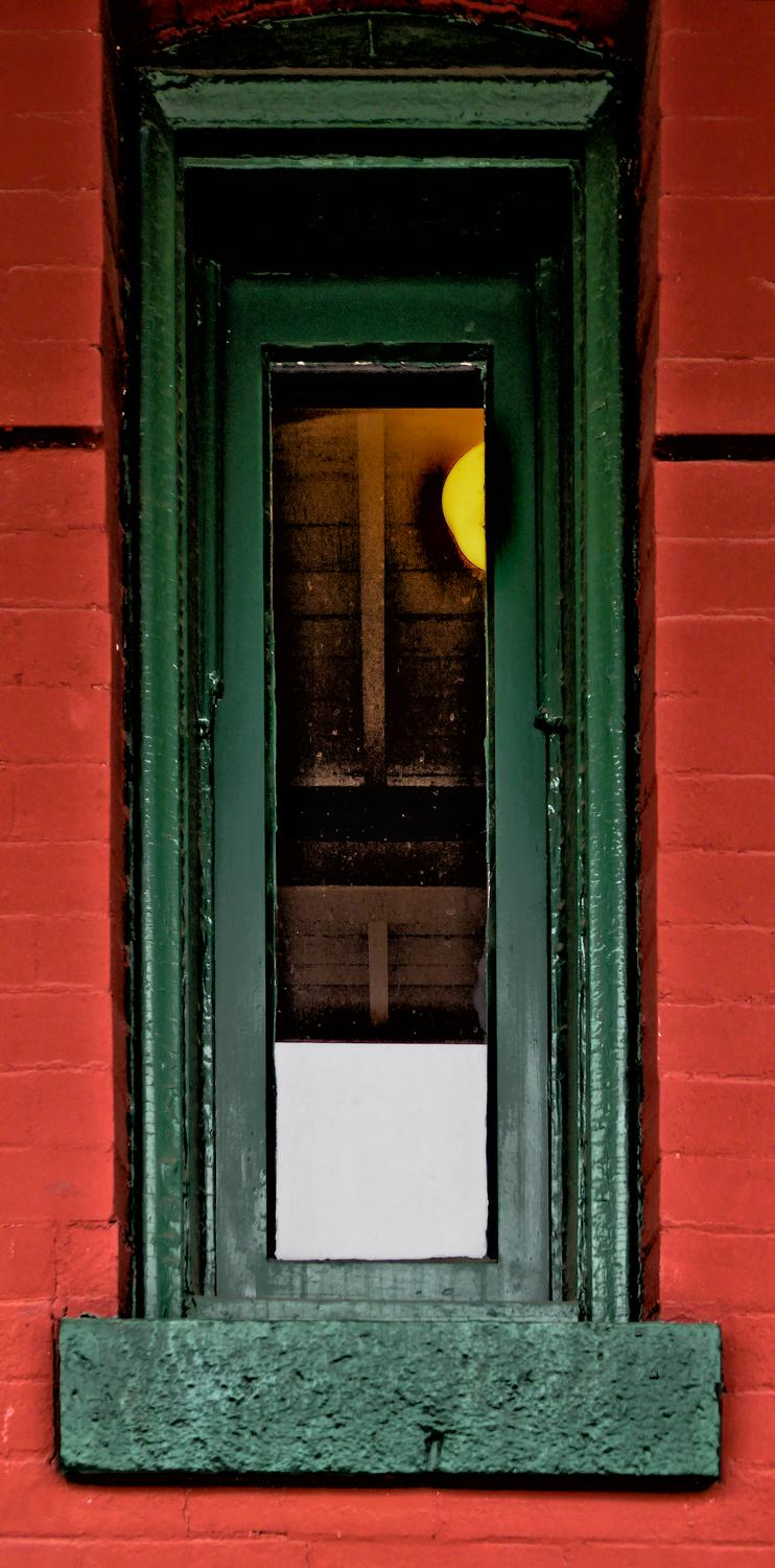 - A tall, narrow window in the historic old station. - Manassas Virginia, Panasonic DMC-ZS40 - - art  - photography - by Tony Karp