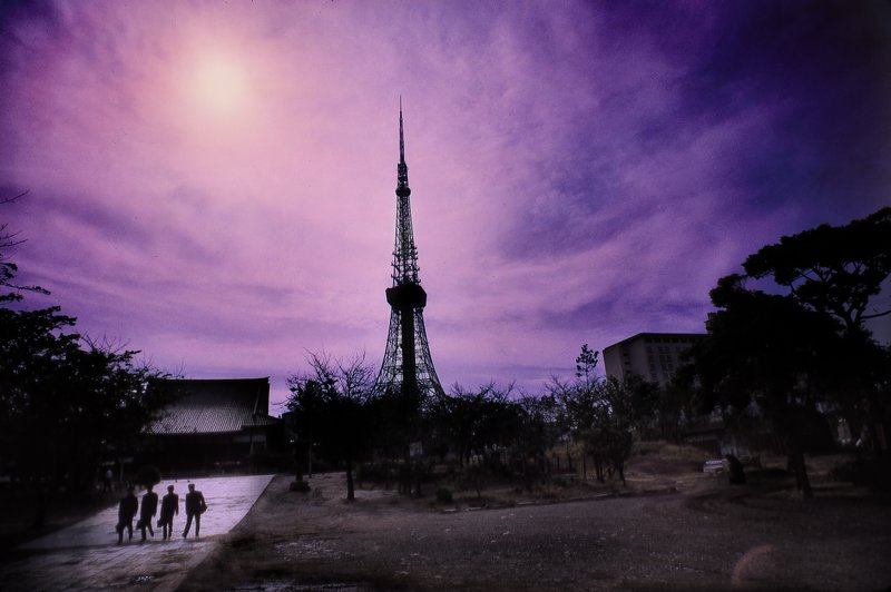 - Tokyo Tower on a purple afternoon - - art  - photography - by Tony Karp